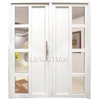 Pvc double-panel casement door