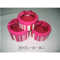 Set of 3 Round Gift Boxes