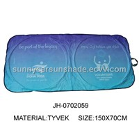 Tyvek Double Circles Car Front Window Sunshade
