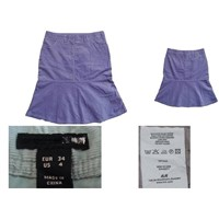 Women's cotton cord knee length skirts