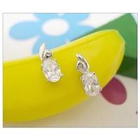 silver stup earring