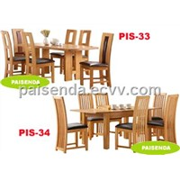 dining room furniture wooden table chair PIS-33-34