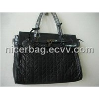 quilted nylon handbag