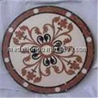 Round medallion tiles
