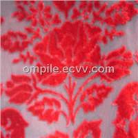 Burnt out velvet fabric