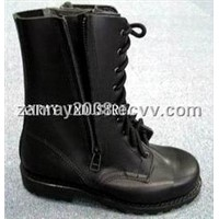Cow leather fire fighting boots