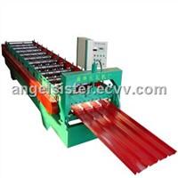 Glazed steel tile roll forming machine