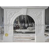 Marble Carved Stone Fireplaces Mantel, Marble Fireplace Marble Mantel, Stone Mantel
