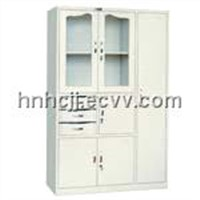 Multi-function glass file cabinet