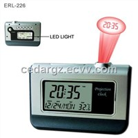 Projection Clock with Calendar and LED Night Light