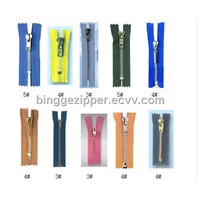 alloy zipper