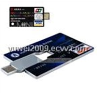 credit card usb flash disk(128MB-8GB)