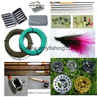 fly fishing tackle, fly line, fly box, fly reel, fly rods, aluminum box