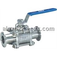 3pc Stainless Steel Ball Valve Clamp End