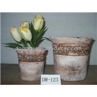 antique finished ceramic garden pots