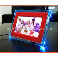 7inch Digital Picture Frame Digital Photo Frame LED Light