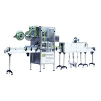 Auto shrinking label sleeving machine