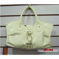 NEW WHITE HOBO DESIGNER LEATHER TOTE HANDBAG FASHION PURSE BAG