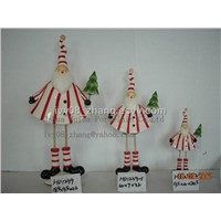 Santa Claus with a Christmas tree, Christmas Gifts and Decorations