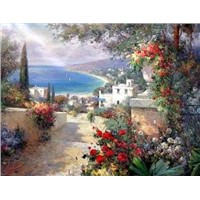 Wholesale handmade landscape oil painting at favorable price