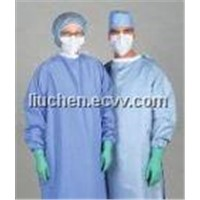 isolation gown,surgical mask,cap