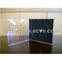 10.4mm single CD jewel Case with black tray assembled