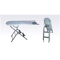 Ironing board with ladder