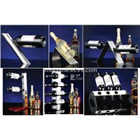 Stainless Steel Bar Tool: Wine Rack