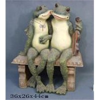 polyresin frog garden decoration