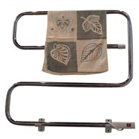 Electric towel rail heater in chrome