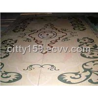 Waterjet Medallion Floor Tile