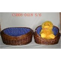 willow basket for pet