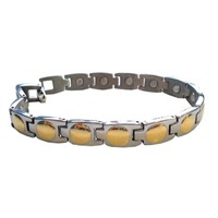 stainless steel magnetic link bracelet