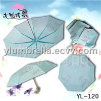 Three Folding Windproof Umbrella