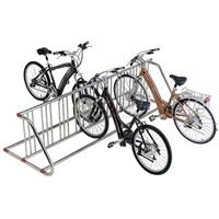 18-Grid Bike Racks - Double Galvanized