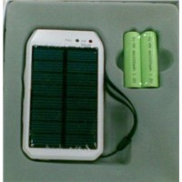 Multipurpose Solar Charger with AA Size Battery Powered