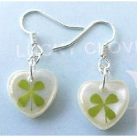 Real lucky clover amber jewelry--real nature