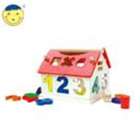 Shape Sorting Cube,Number House ,Wooden Puzzle ,Wooden Toy
