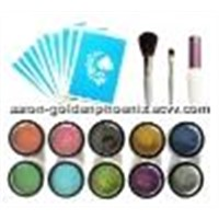 Temporary Airbrush Tattoos - Glitter Tattoos Kit