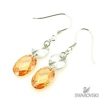 925 sterling silver and crystal earring