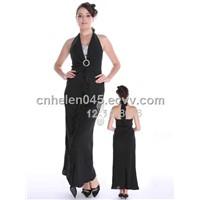 Black Empire Waist Evening Dress