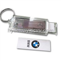 Solar LCD Keychain with Changeable Logo