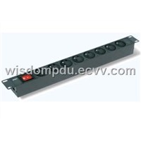 PDU socket and plug power supply basic power distribution units