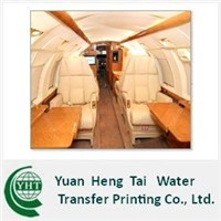 Water transfer printing for Airplane interior