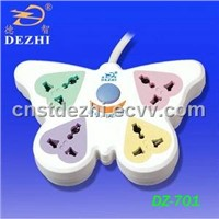 4-way butterfly-shaped electrical socket