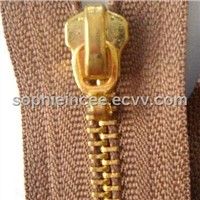 #5 Gold Zippers with Hook