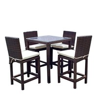 "All-Weather Wicker ""Liberty"" 5-Piece Outdoor Bar Set"