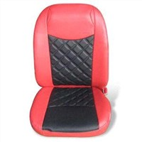 Black and Red Leather Car Cover