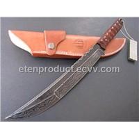 Ruffled Steel Survival Knife