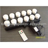 12 Pack Remote Control Rechargeable Candle Set